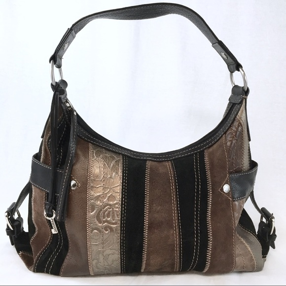 1df4f4d87a Fossil Handbags - FOSSIL PATCHWORK LEATHER HOBO BAG